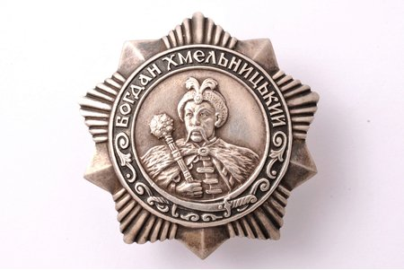 order, Order of Bogdan Khmelnitsky № 5918, 3rd class, silver, USSR, 45.4 x 44.2 mm, 29.89 g