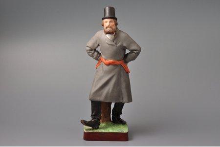 figurine, Dancing man, porcelain, Russia, Gardner manufactory, ~1890, h 25 cm