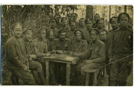 photography, Latvian Riflemen, Latvia, Russia, beginning of 20th cent., 13,6x8,2 cm