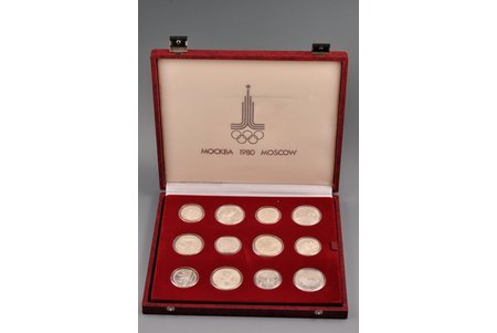 a set, dedicated to the 1980 Olympic Games in Moscow, 28 coins, silver, USSR, AU