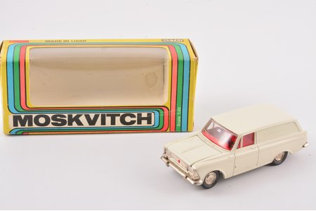 car model, Moskvitch 434 Nr. A6, Red color interior, metal, USSR, ~ 1977