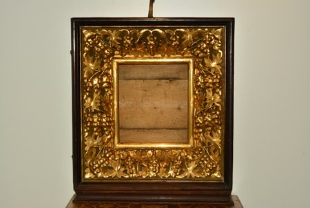 icon case, for the icon size 36 x 31 cm, guilding, wood, Russia, the beginning of the 20th cent., 78 x 67 x 18 cm