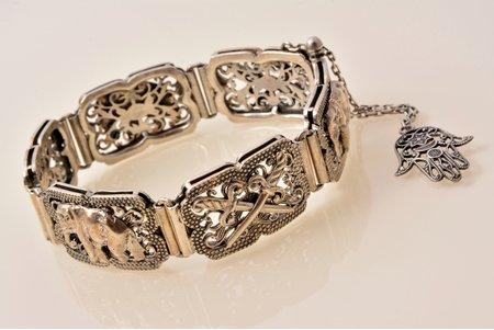 a bracelet, silver, 925 standart, 59.82 g., the item's dimensions 20 cm