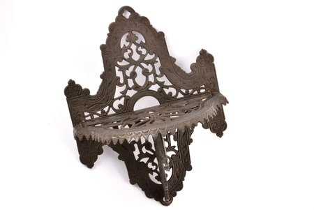 decorative shelf, A. Mochalin, cast iron, 32.8 x 24 x 15.5 cm, weight 1502.50 g., Russia, Kasli, 1896, minor defects