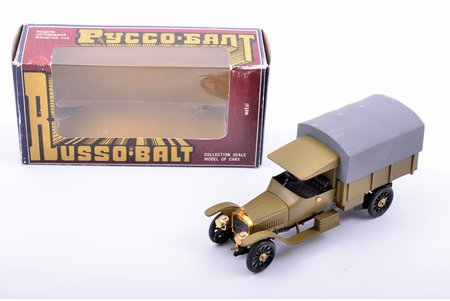 car model, Russo-Balt S24/40 Limousin Berlin 1913, S24/40 based conversion, signed by author, metal, 1991-1993