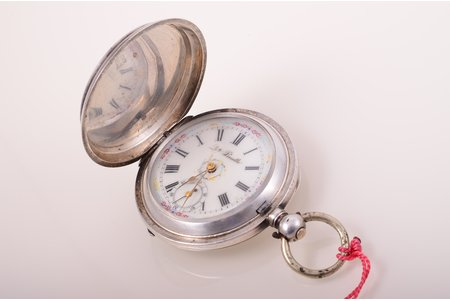 "wristwatch, ""Qte Boutte"", Switzerland, silver, 84, 875 standart, 101.80 g, 6.3 x 5.2 cm, 40 mm, working well"