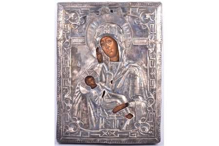 icon, Mother of God Assuage My Sorrows, board, silver (without hallmark), painting, Russia, the beginning of the 19th cent., 31.5 x 23.5 x 2.8 cm, 315.50 g. (oklad weight)