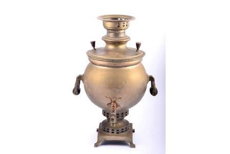 samovar, Yemelyan Akimovich Batashev, Tula, brass, Russia, the beginning of the 20th cent., h 45.6 cm, weight 4550 g