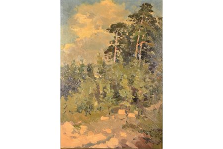 Vinters Edgars (1919-2014), Forest, the 70-ties of the 20th cent., carton, oil, 47 x 34 cm
