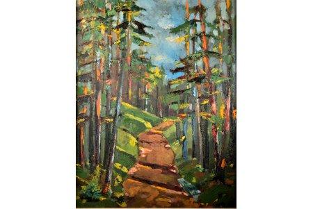 Лесные тропы, картон, масло, 73.7 x 58 см