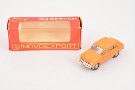 car model, Moskvitch 403 Nr. A7, the first sample luggage carrier, metal, USSR, 1978