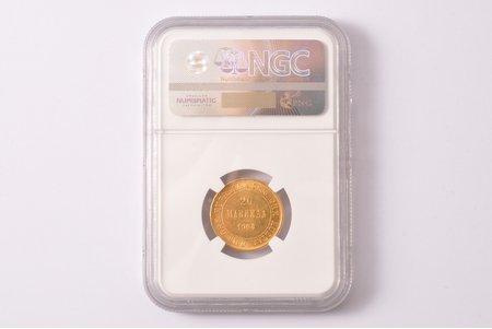 20 markas, 1904 g., L, zelts, Krievijas Impērija, Somija, 6.45 g, Ø 21.3 mm, MS 62