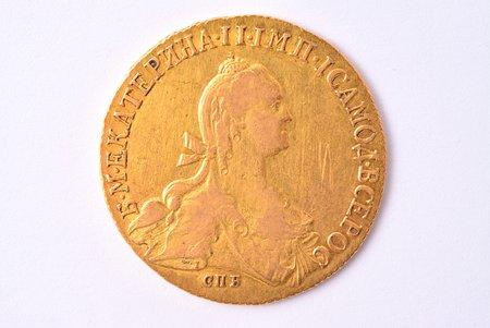 10 rubles, 1776, SPB, gold, Russia, 13.05 g, Ø 29.9 mm, VF