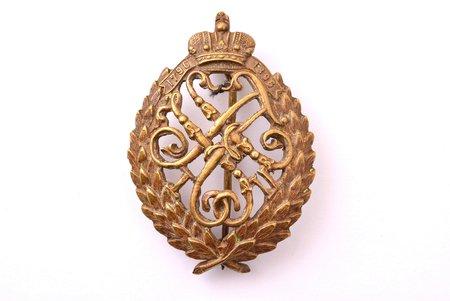 badge, The 67th infantry Regiment of Tarutino, bronze, Russia, 1910, 51.8 x 36.9 mm, 11 g