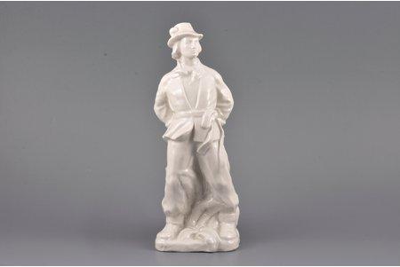 statuete, Vīrietis nacionālā tērpā, porcelāns, Rīga (Latvija), PSRS, autordarbs, modeļa autors - Aldona Elfrīda Pole-Āboliņa, 20 gs. 50tie gadi, 24 cm