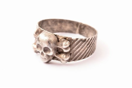 "Ring ""Skull"", world war II, silver, 800 standart, 3.03 g., ring size 21.25 mm, Germany, the 30-40ties of 20th cent."