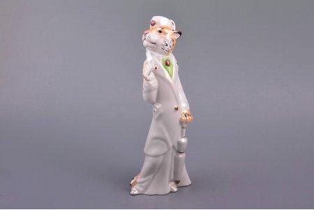 figurine, Tiger Lady, porcelain, Ukraine, Korosten Porcelain Factory, molder - A.G. Shevchenko, 2000ies, h 19.9 cm, first grade