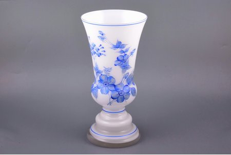 vase, milk glass, the 30ties of 20th cent., h 25 cm