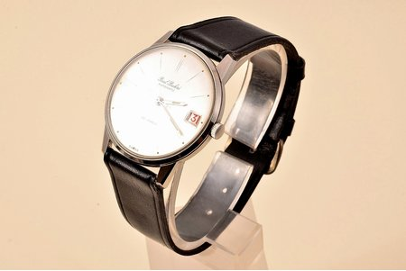 """wristwatch, """"Paul Buhre"""", automatic, Switzerland, the 50ies of 20th cent., metal, 3.8 x 3.5 cm, maintenance needed"""