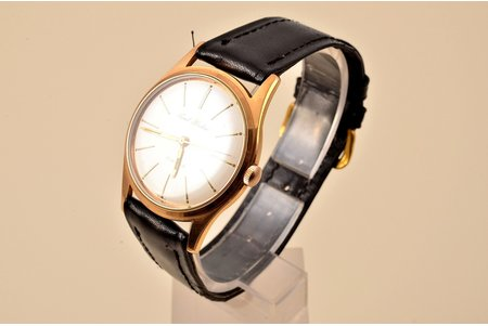 """wristwatch, """"Paul Buhre"""", Switzerland, the 50ies of 20th cent., metal, gold plated, 4.1 x 3.5 cm, mechanism working well"""