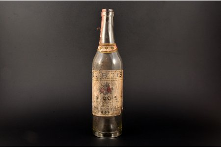 "bottle, cognac ""Dubois"" highest quality, Ch. Jurgenson - Otto Schwarz liquor factory, Riga, Latvia, the 30ties of 20th cent., 28 cm"