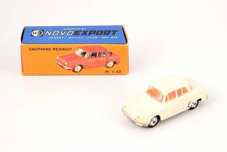 car model, Dauphine Renault, plastic, USSR