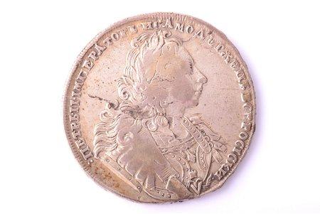 1 rublis, 1729 g., Pēteris II, sudrabs, Krievijas Impērija, 27.72 g, Ø 40.5 - 40.8 mm, VF