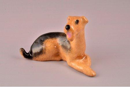 figurine, Dog, author's work, porcelain, Riga (Latvia), 5.8 cm