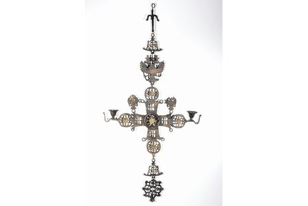 candlestick, handmade, bronze, Russia, 1150, 83 x 40.5 cm