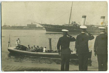 фотография, Рига, визит Его Высочества Царя Николая II, Латвия, Российская империя, начало 20-го века, 13,8 x 9 см