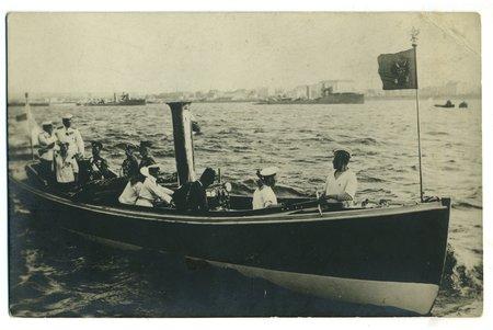 фотография, Рига, визит Его Высочества Царя Николая II, Латвия, Российская империя, начало 20-го века, 13,8 x 8,8 см
