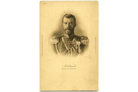 открытка, Его Величество Царь Николай II, Российская империя, начало 20-го века, 14 x 9 см