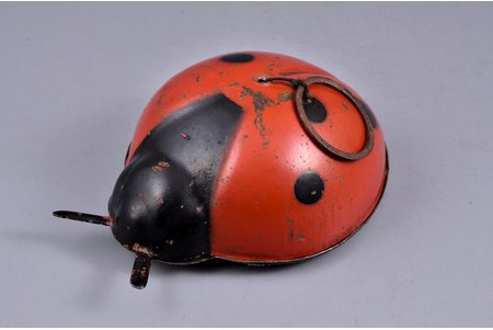a toy, Ladybug, metal, USSR, the 40ies of 20th cent., 12 x 8.5 x 4 cm