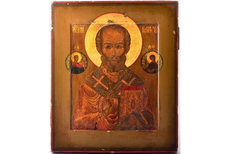 icon, Saint Nicholas the Miracle-Worker. Mstyora; painted on gold, board, painting, Russia, the middle of the 19th cent., 31.2 x 26.6 x 2.3 cm
