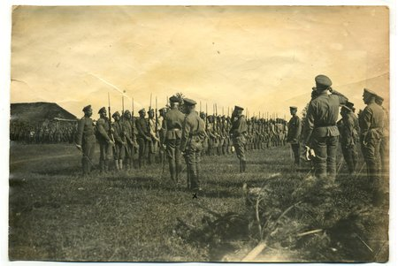 photography, Latvian riflemen, Latvia, Russia, beginning of 20th cent., 16,6x10,5 cm