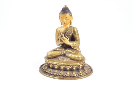 figurine, Buddha, bronze, h 10.5 cm, weight 347.90 g.
