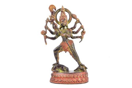 figurine, Kali, bronze, h - 19.7 cm, weight 926.95 g.