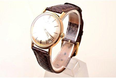 "наручные часы, ""Zenith"", Швейцария, золото, 18 K проба, (общий вес) 35.40 г, 4.05 x 3.6 см, Ø (циферблат) 31.2 мм, на ходу"