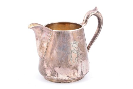 cream jug, silver, 84 standart, 1883, 186.40 g, master Robert Kohun, St. Petersburg, Russia, h 10.7 cm