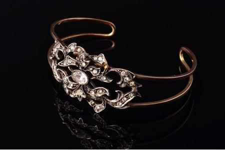 "браслет, стиль ""Dolce Vita"", серебро, 800 проба, 14.40 г., диаметр браслета 4.6 x 6.4 см, Италия"
