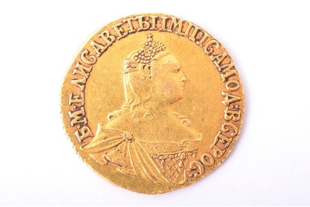 2 rubles, 1756, gold, Russia, 3.21 g, Ø 18.3 mm, XF, VF