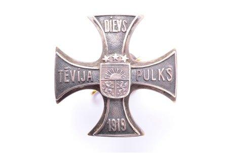 знак, Кавалерийский полк, № 687, Латвия, 20е-30е годы 20го века, 34.9 x 34.8 мм