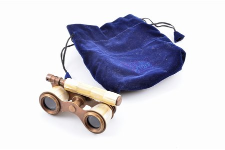 theater binoculars Grace, metal, nacre, 9.9 x 4.8 cm, in the original bag