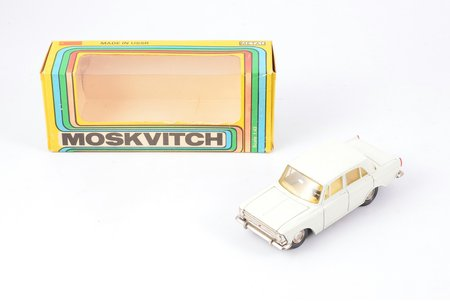car model, Moskvitch 412 Nr. A10, IZH-MOSKVITCH-412-IZH, metal, USSR, 1982