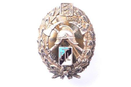 miniatūrzīme, Ugunsdzēsēju, ETL, Igaunija, 20.gs. 20-30ie gadi, 27.5 x 20.9 mm