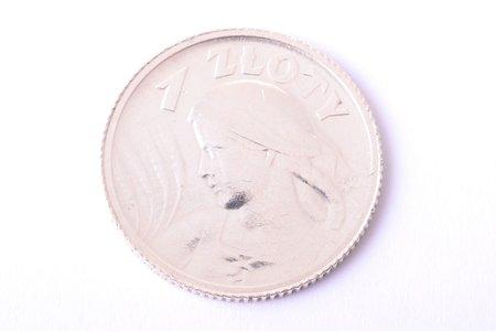 1 zloty, 1924, silver, Poland, 5 g, Ø 23.4 mm, AU