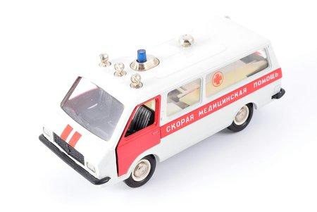 "car model, RAF M-22031 Nr. A27, ""Ambulance"", metal, USSR, 1983-1987"