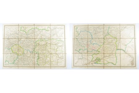 map, Military road map of the part of Russia and the border lands in scale 1: 1680000, sheets IV and V (map consisted of 8 numbered sheets), edited by Fedor Fedorovich Schubert, Russia, 1829, 51 x 72.5, 50.6 x 73 cm, in a box