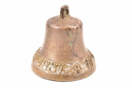 колокол,  Евсеи Барнов, 1837, В М, бронза, h 9 см, вес 424.20 г., Российская империя, 1837 г.