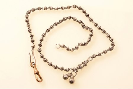 a chain (watch fob), silver, 18.95 g., the item's dimensions 45.2 cm, without hallmark